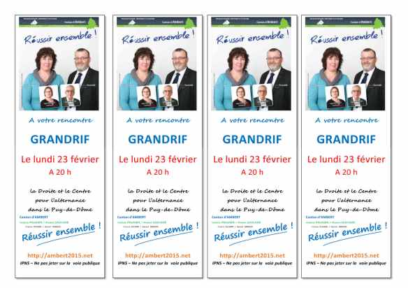 départementales 2015 canton d'Ambert