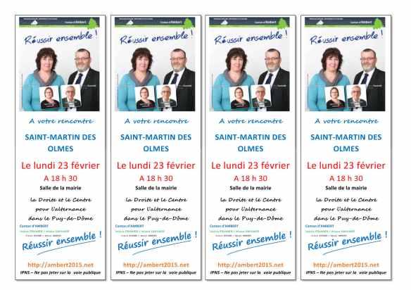 départementales 2015, saint Martin des Olmes