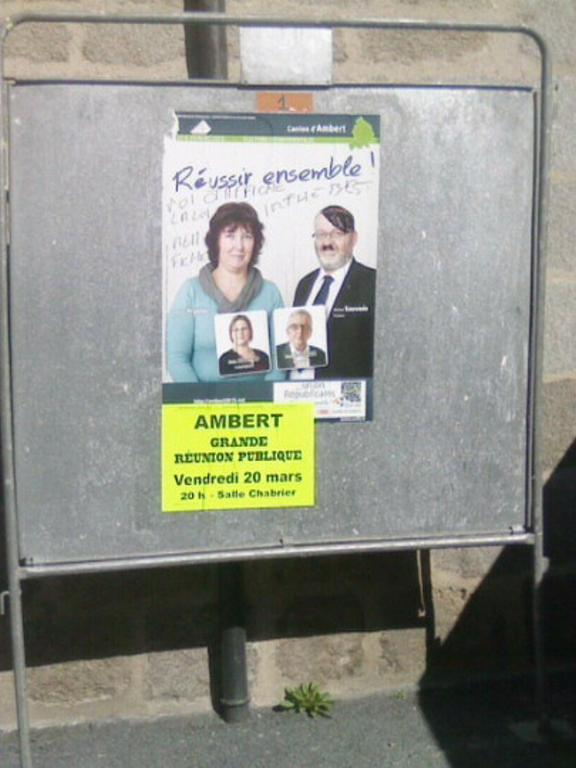affiche mairie d'Ambert