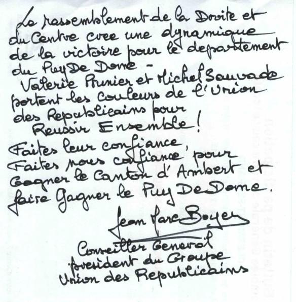 lettre Jean-Marc BOYER