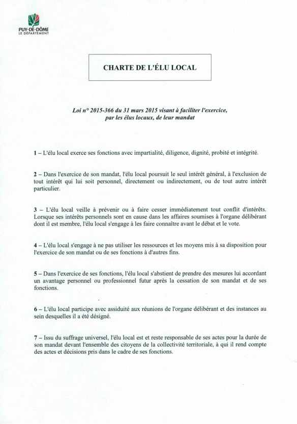 charte de l'élu local